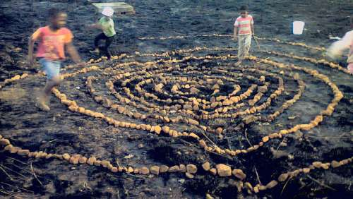 Mamelodi East Stone Circle mandala by Ke Neil We and Banele Khoza. Photo by Ke Neil We.