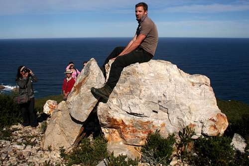 Simon Max Bannister talks about the making of 'Aartmoeders' at Site_Specific's 2013 International Land Art Biennale. The rock installation depicts one of three elephants overlooking the ocean at Kranshoek in Plettenberg Bay, South Africa. Photo: katty vandenberghe.