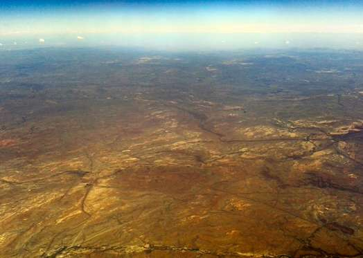 Aerial shot of the Karoo, South Africa.